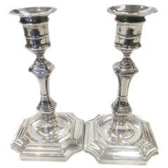 Pair of Edwardian Sterling Silver Candlesticks, 1912