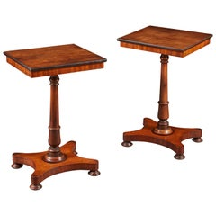 Pair of Edwardian Mahogany Occasional Tables