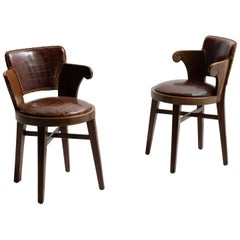 Pair of Edwardian Tavern Chairs