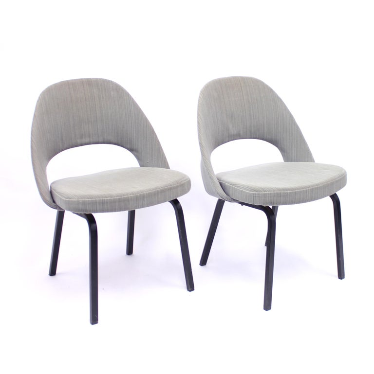 Mid-Century Modern Pair of Eero Saarinen Executive Chairs by Knoll / Nordiska Kompaniet, 1960s For Sale