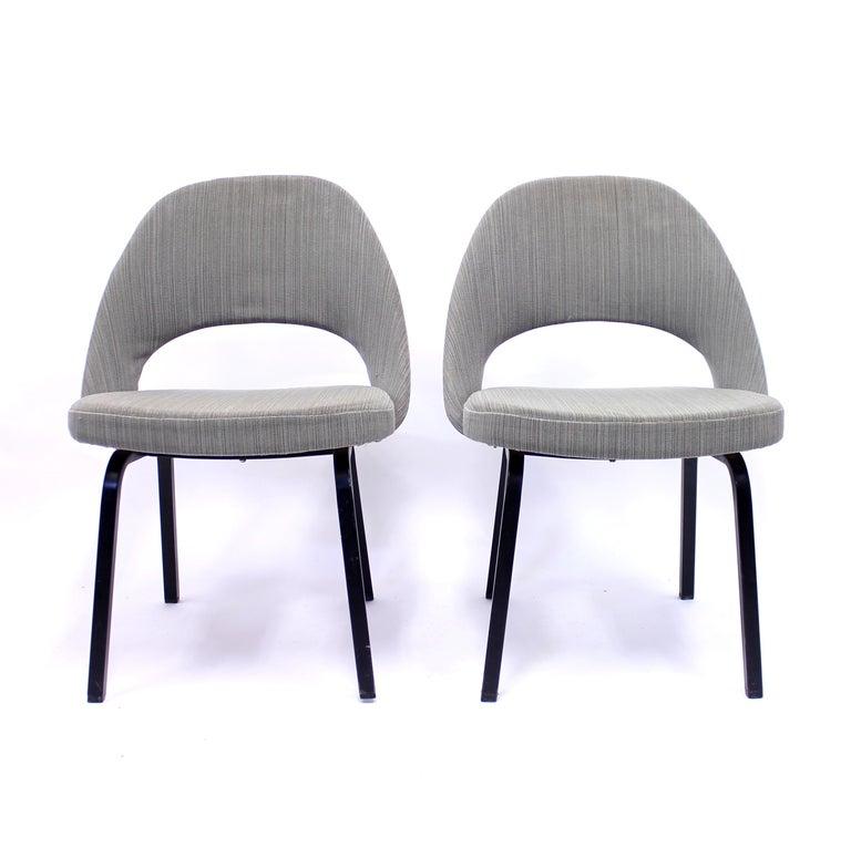 Pair of Eero Saarinen Executive Chairs by Knoll / Nordiska Kompaniet, 1960s In Good Condition For Sale In Uppsala, SE