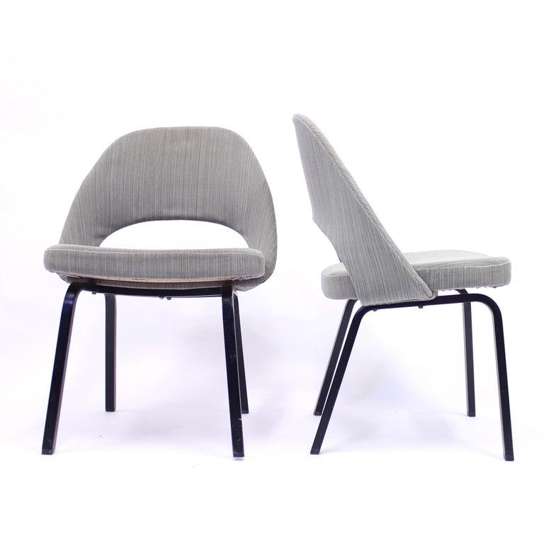 Metal Pair of Eero Saarinen Executive Chairs by Knoll / Nordiska Kompaniet, 1960s For Sale