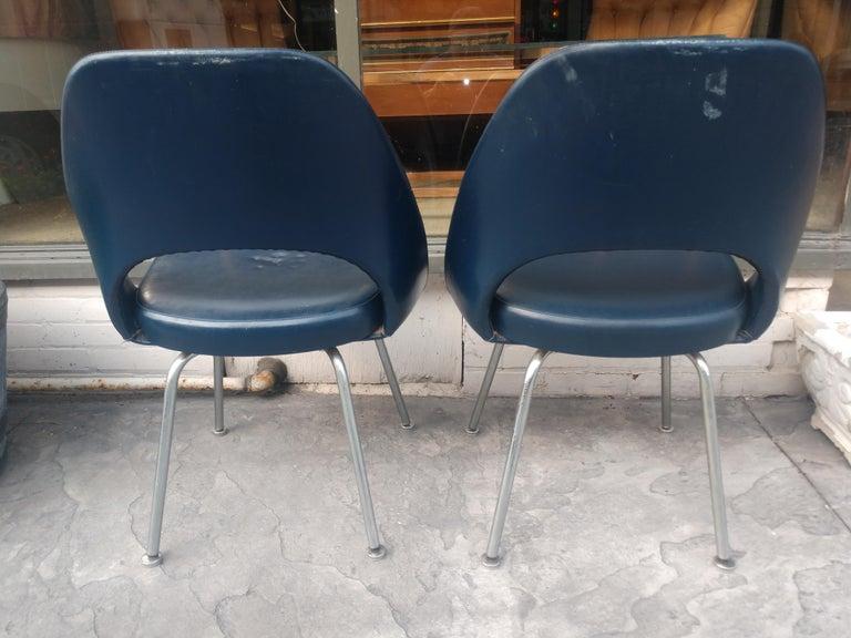 American Pair of Eero Saarinen Executive Side Chairs For Sale