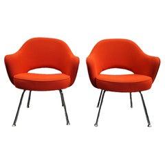 Pair of Eero Saarinen for Knoll Executive Armchairs