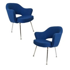 Pair of Eero Saarinen for Knoll Upholstered Executive Armchairs