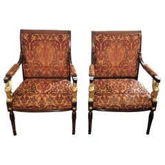 Pair of Egyptian Revival Armchairs