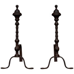 Pair of Elegant Antiqued Firedogs