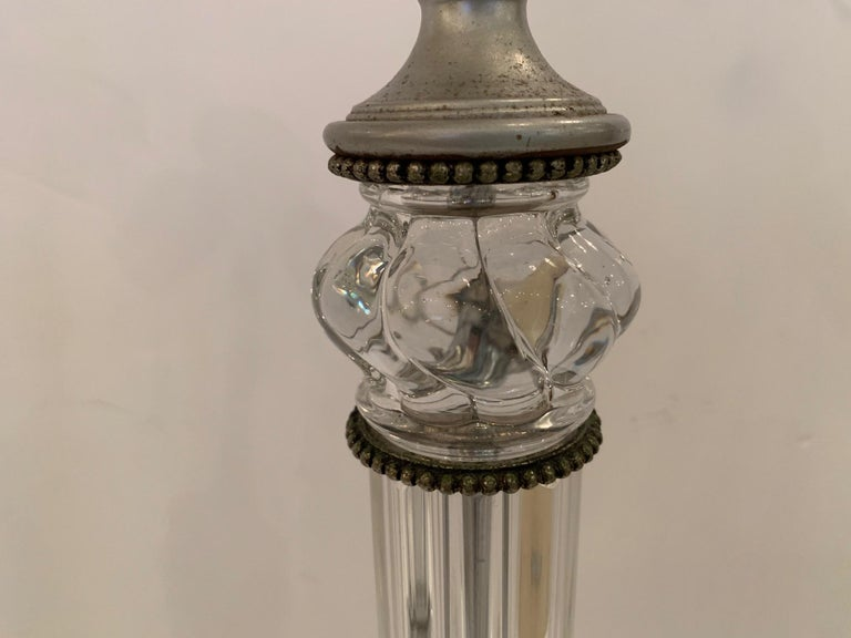 Pair of Elegant Baccarat Style Table Lamps In Good Condition For Sale In Hopewell, NJ