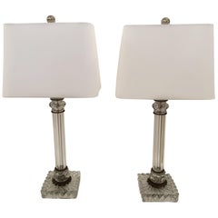 Pair of Elegant Baccarat Style Table Lamps