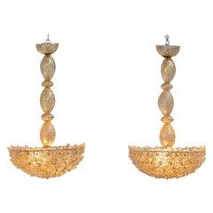 Pair of Elegant Barovier Pendants