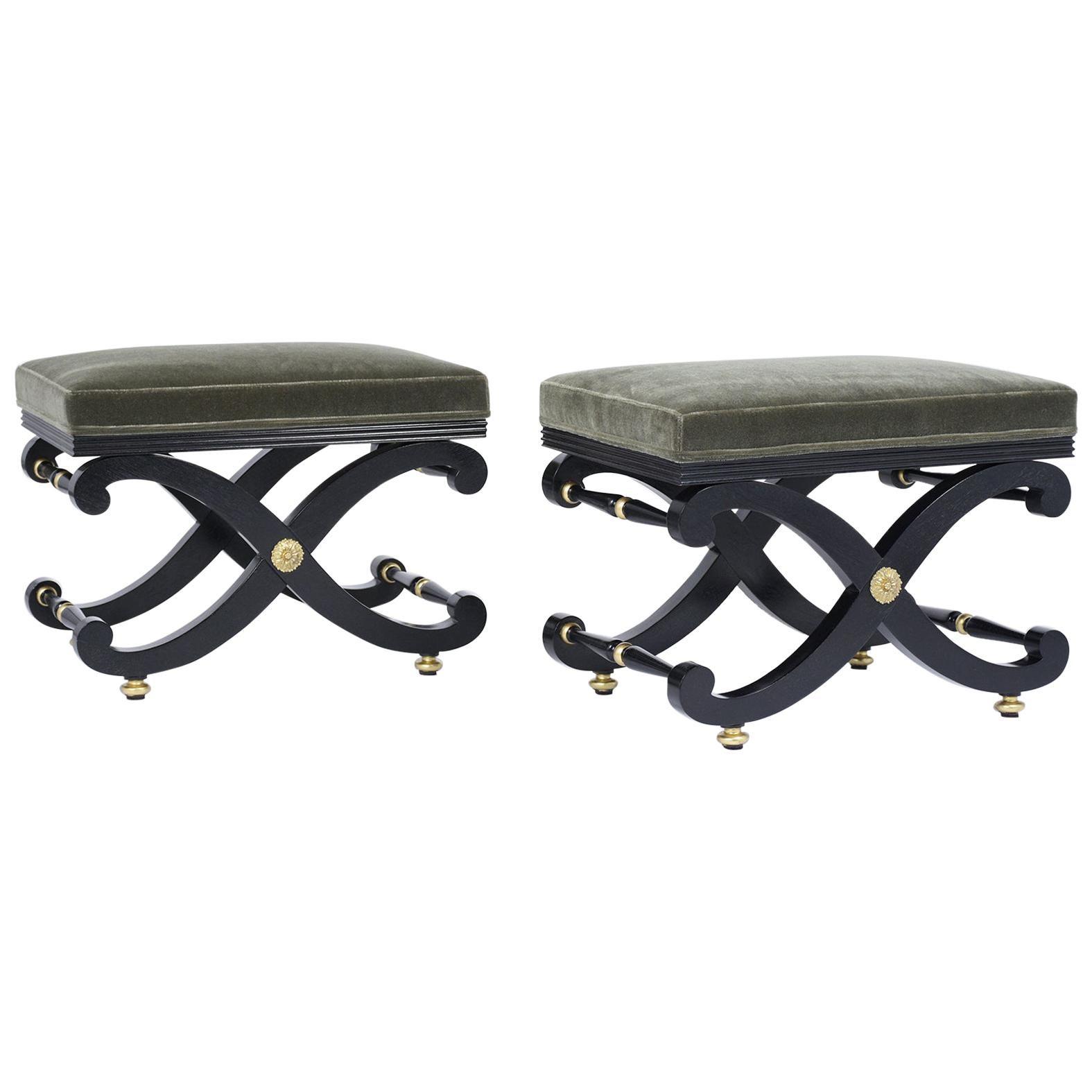 Pair of Elegant Benches