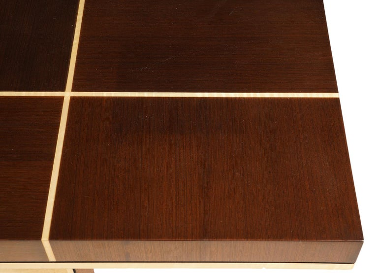 Elegant Contemporary Art Deco Style Inlaid Lacquer Console Table In Good Condition For Sale In Ft. Lauderdale, FL