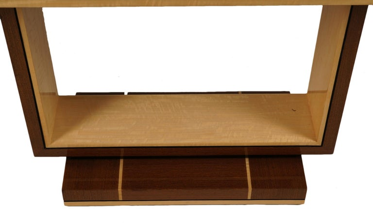 Elegant Contemporary Art Deco Style Inlaid Lacquer Console Table For Sale 1