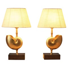 Pair of Elegant French Shell Table Lamps
