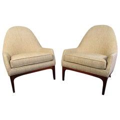 Pair of Elegant Mid-Century Modern Reading Chairs