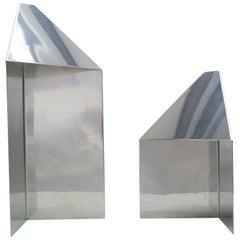 Pair of Elegant Mid-Century Modern Side Table Lamps, 1970s