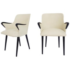 Pair of Elegant Rare small Armchairs by Osvaldo Borsani for Tecno, 1954, Italy