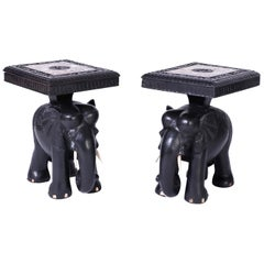 Pair of Elephant End Tables