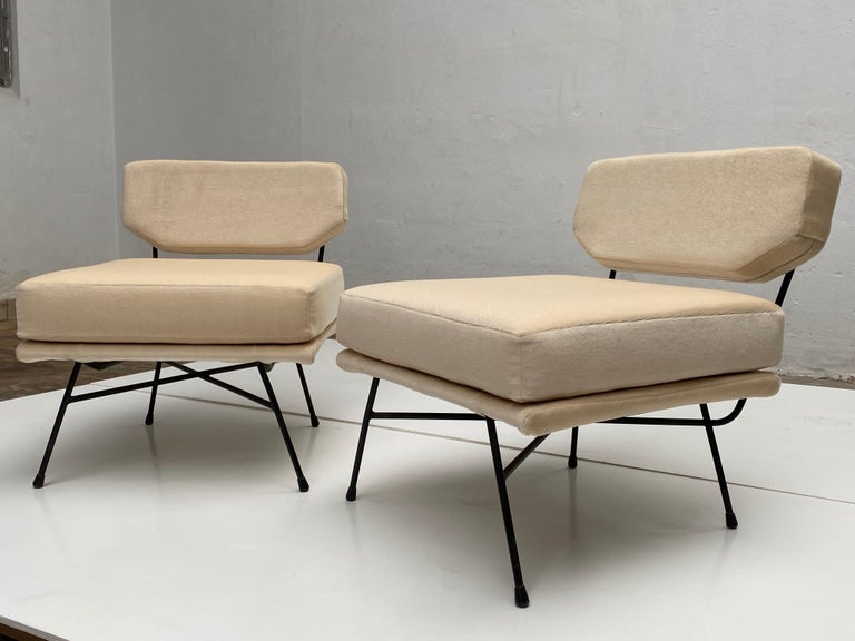 Pair of 'Elettra' Lounge Chairs by BBPR, Arflex, Italy 1953, Compasso D'Oro 1954 For Sale 2
