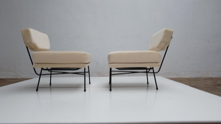 Pair of 'Elettra' Lounge Chairs by BBPR, Arflex, Italy 1953, Compasso D'Oro 1954 For Sale 4