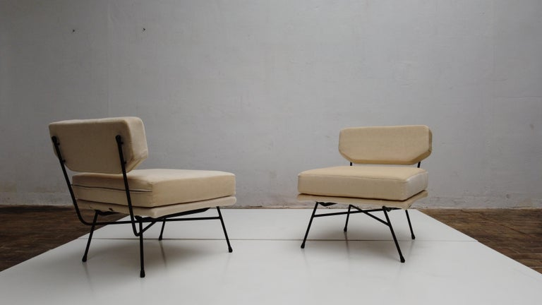 Pair of 'Elettra' Lounge Chairs by BBPR, Arflex, Italy 1953, Compasso D'Oro 1954 For Sale 5
