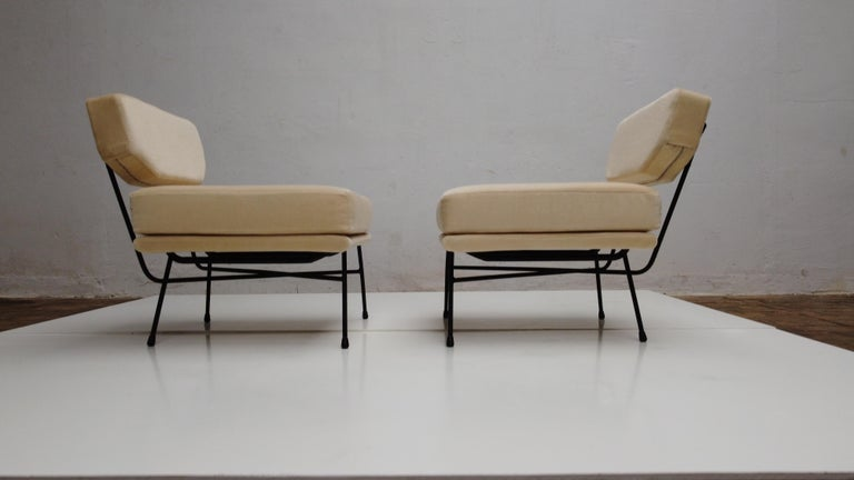 Pair of 'Elettra' Lounge Chairs by BBPR, Arflex, Italy 1953, Compasso D'Oro 1954 For Sale 6