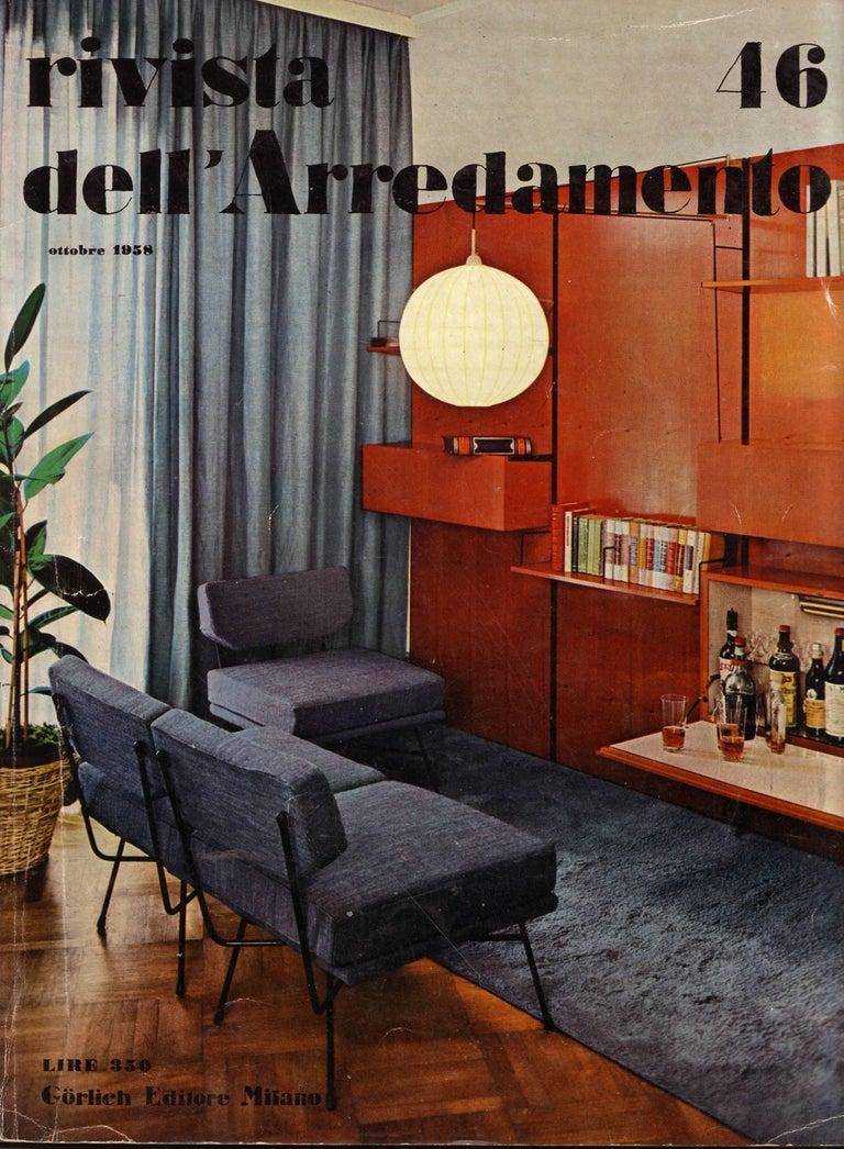 Stunning and rare pair of original period 'Elettra' lounge chairs by the famous ground breaking architect studio partnership BBPR (Gianluigi Banfi (1910-1945), Lodovico Barbiano di Belgiojoso (1909-2004), Enrico Peressutti (1908-1976) and Ernesto