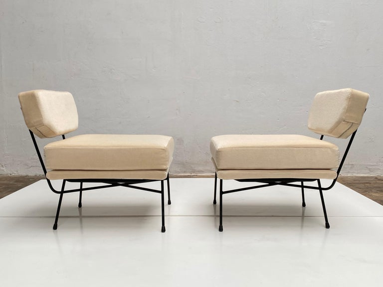 Mid-Century Modern Pair of 'Elettra' Lounge Chairs by BBPR, Arflex, Italy 1953, Compasso D'Oro 1954 For Sale