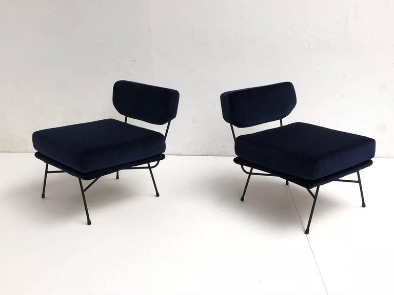 Rubber Pair of 'Elettra' Lounge Chairs by BBPR , Arflex,Italy 1953, Compasso D'Oro 1954 For Sale