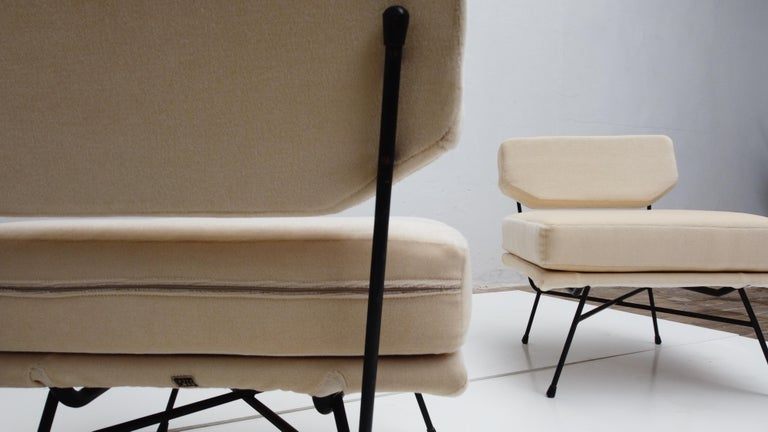 Italian Pair of 'Elettra' Lounge Chairs by BBPR, Arflex, Italy 1953, Compasso D'Oro 1954 For Sale