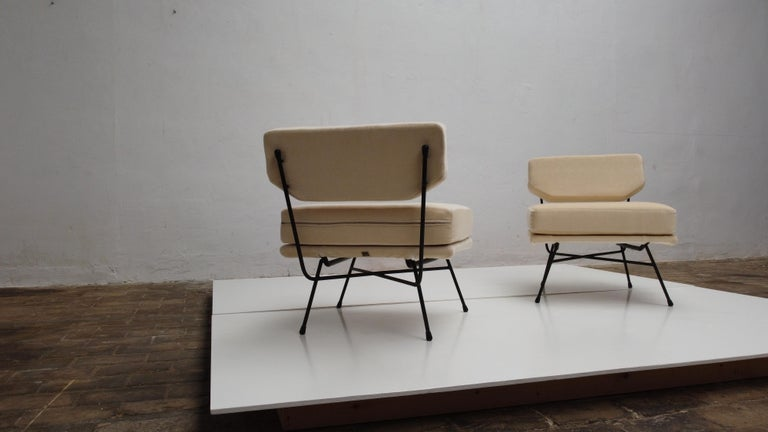 Pair of 'Elettra' Lounge Chairs by BBPR, Arflex, Italy 1953, Compasso D'Oro 1954 In Good Condition For Sale In bergen op zoom, NL