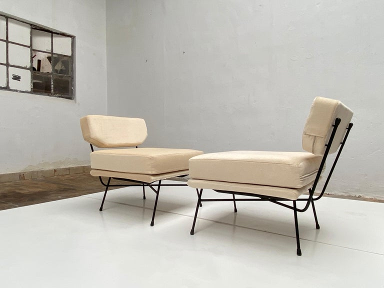 Mid-20th Century Pair of 'Elettra' Lounge Chairs by BBPR, Arflex, Italy 1953, Compasso D'Oro 1954 For Sale