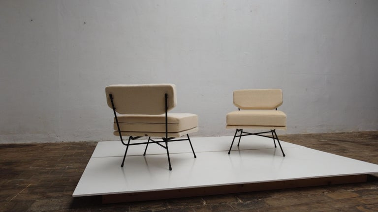 Pair of 'Elettra' Lounge Chairs by BBPR, Arflex, Italy 1953, Compasso D'Oro 1954 For Sale 1