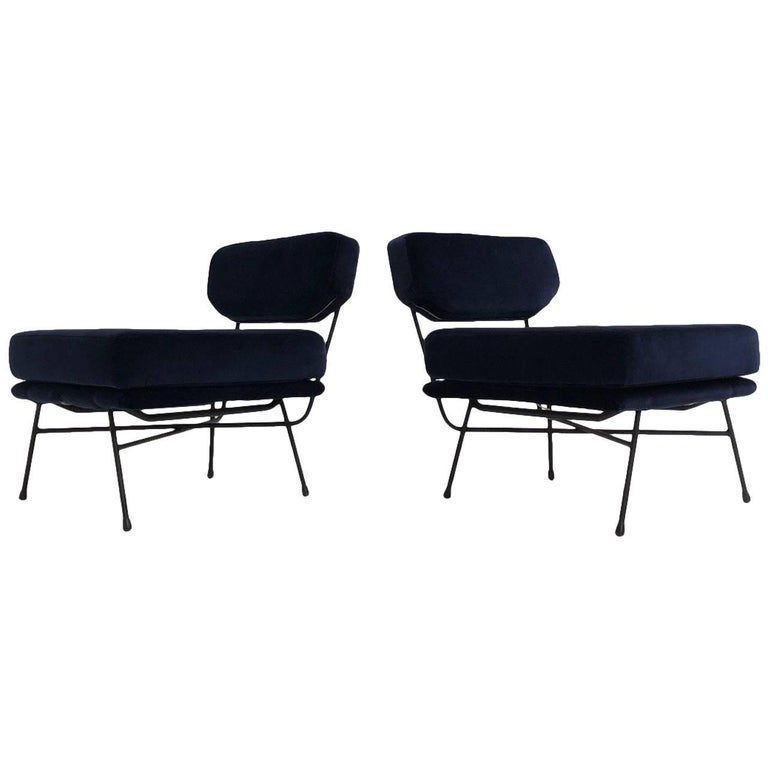 Pair of 'Elettra' Lounge Chairs by BBPR , Arflex,Italy 1953, Compasso D'Oro 1954 For Sale