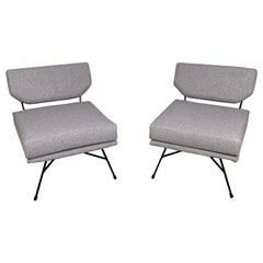 Pair of 'Elettra' Lounge Chairs by BBPR, Arflex, Italy 1953, Compasso D'Oro 1954
