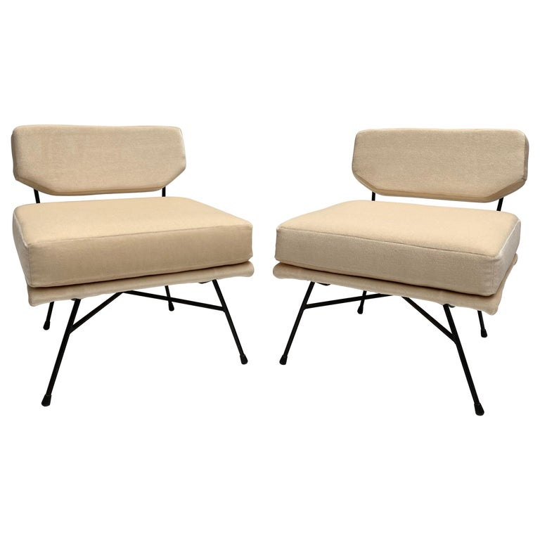 Pair of 'Elettra' Lounge Chairs by BBPR, Arflex, Italy 1953, Compasso D'Oro 1954 For Sale