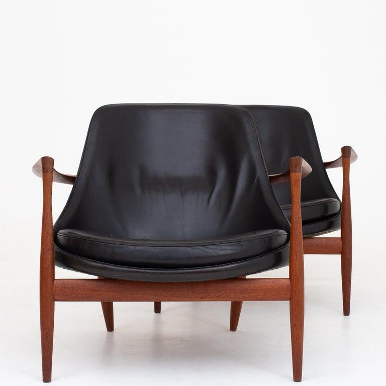 Teak Pair of Elizabeth Chairs by Ib Kofod Larsen