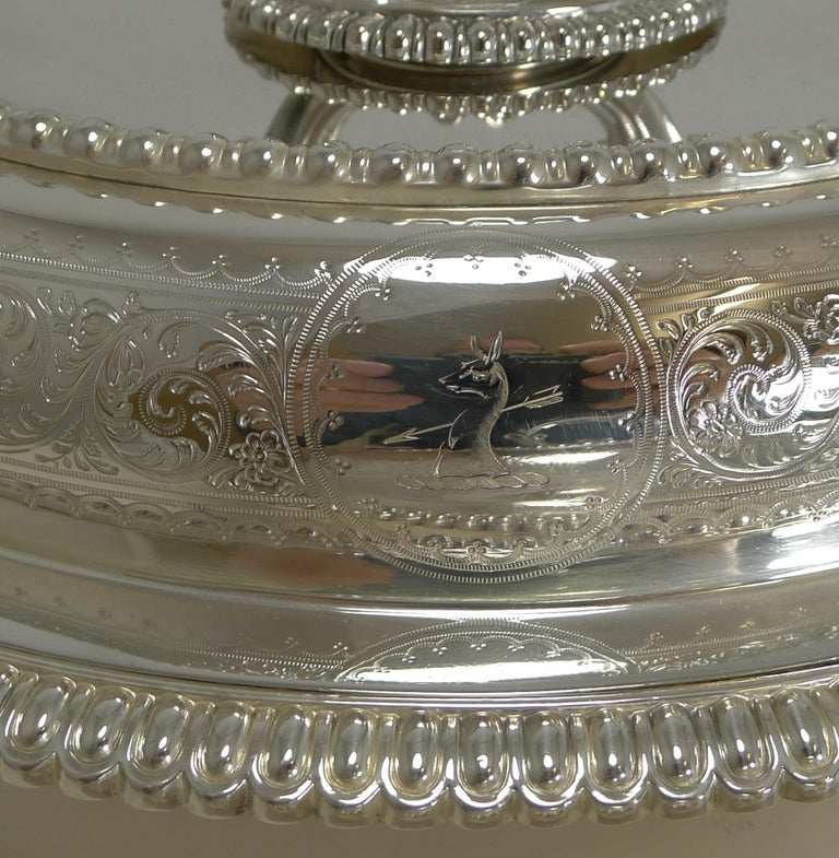 Pair of Elkington Silver Plated Entree/Serving Dishes, 1884 For Sale 1