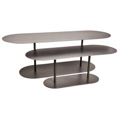 Pair of Ellipses Tables Signed by Pia Chevalier