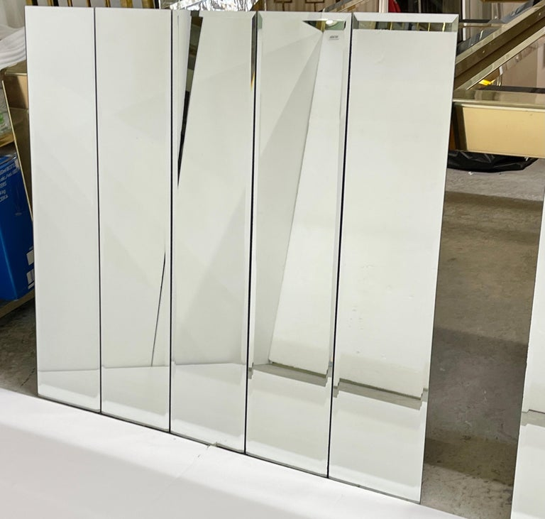 Pair of Ello Beveled Wall Mirrors For Sale 6