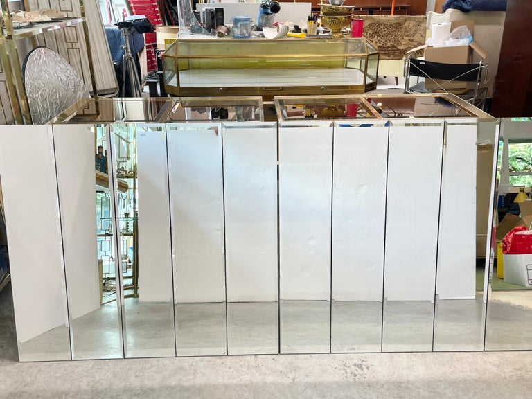 Pair of Ello Beveled Wall Mirrors For Sale 13