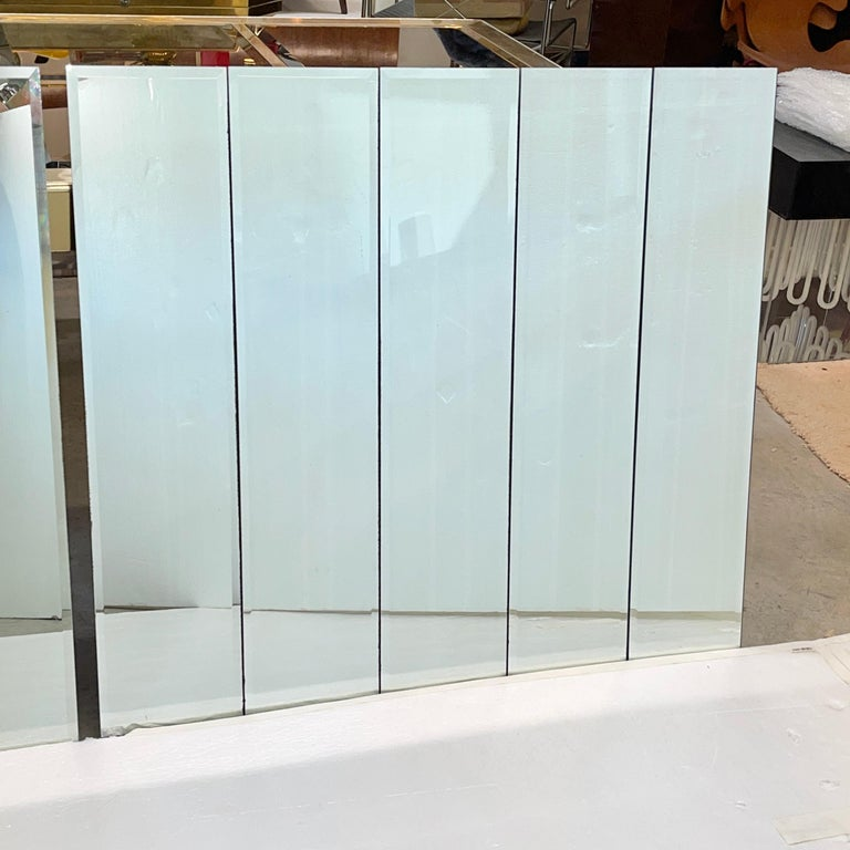 Hollywood Regency Pair of Ello Beveled Wall Mirrors For Sale