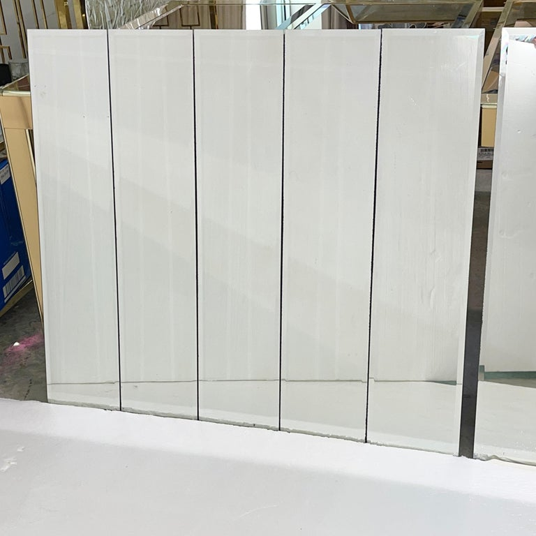 American Pair of Ello Beveled Wall Mirrors For Sale