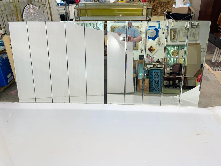 Pair of Ello Beveled Wall Mirrors In Good Condition For Sale In Hingham, MA