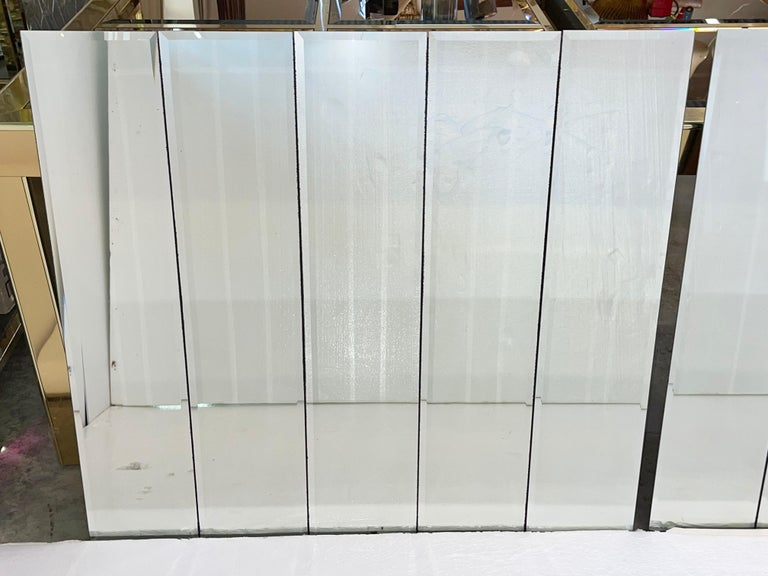 Late 20th Century Pair of Ello Beveled Wall Mirrors For Sale