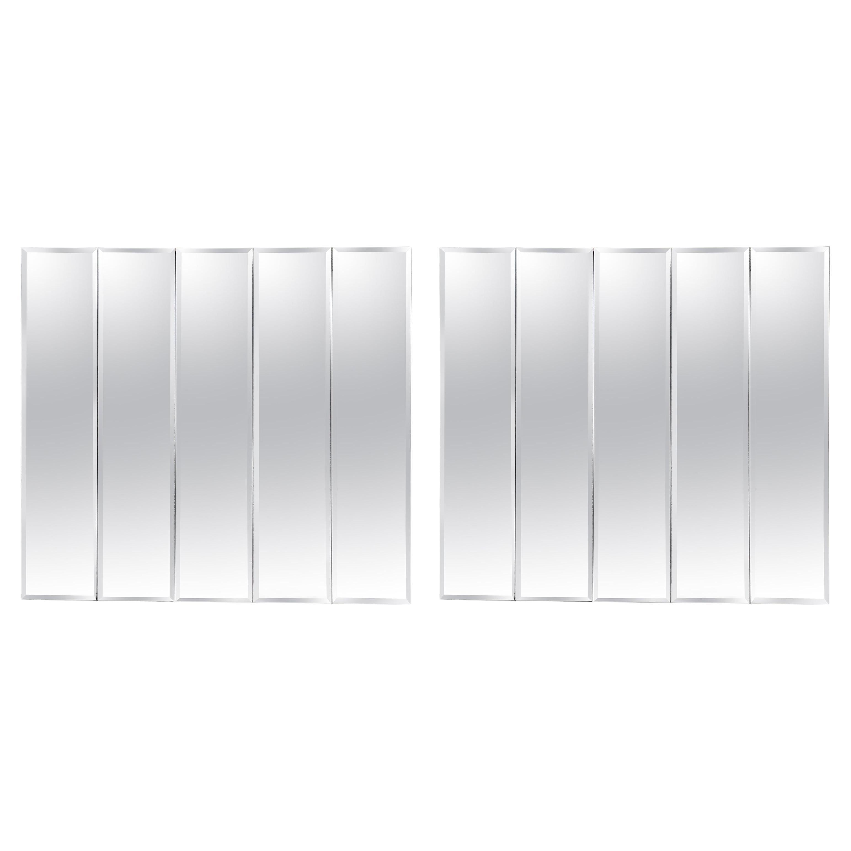 Pair of Ello Beveled Wall Mirrors