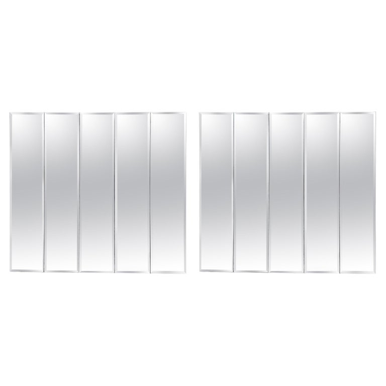 Pair of Ello Beveled Wall Mirrors For Sale