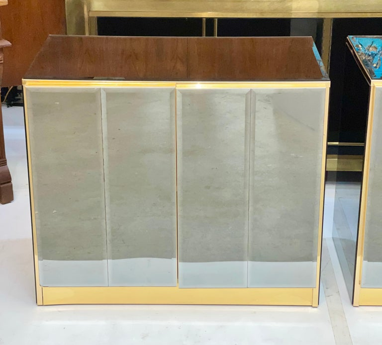 Pair of Ello Mirrored Double Door Chests For Sale 2