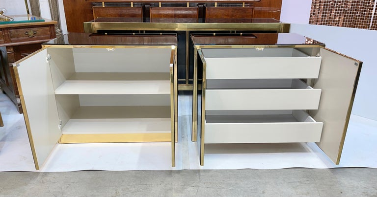 Pair of Ello Mirrored Double Door Chests For Sale 4