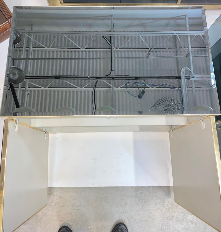 Pair of Ello Mirrored Double Door Chests For Sale 5